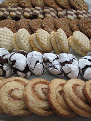 Rows of Sweet Constructions artisanal cookies for wholesale in San Francisco